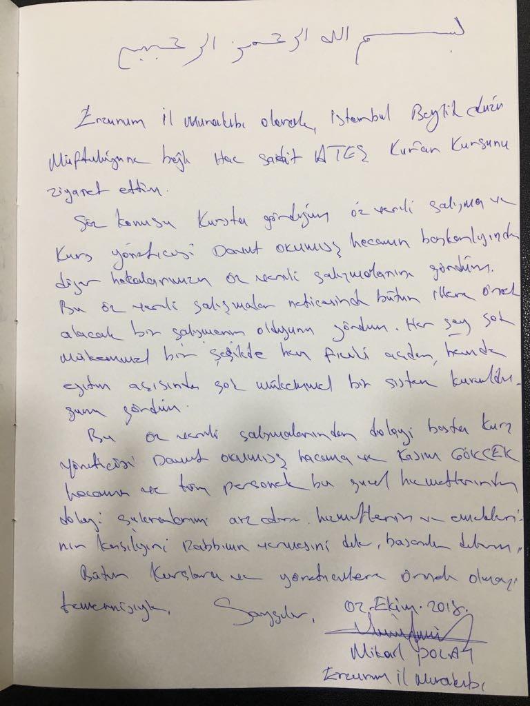 Erzurum İl Murakıblarından Anlamlı Ziyaret