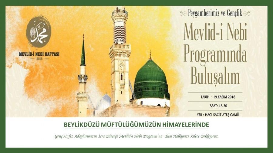 Mevlid- i Nebi programına davet