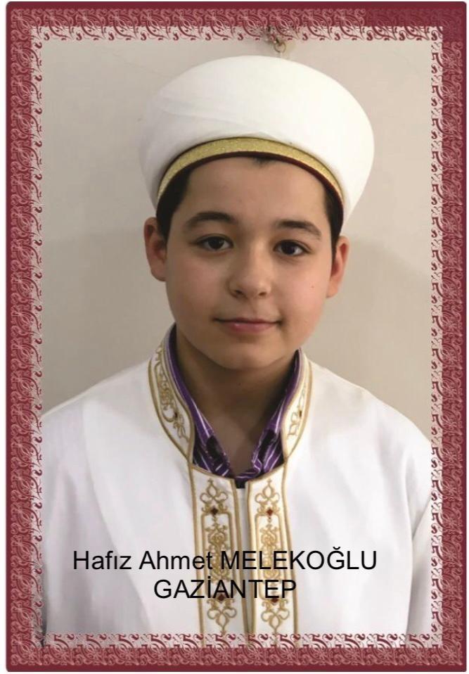 Ümmeti Muhammed'e bir hafız daha