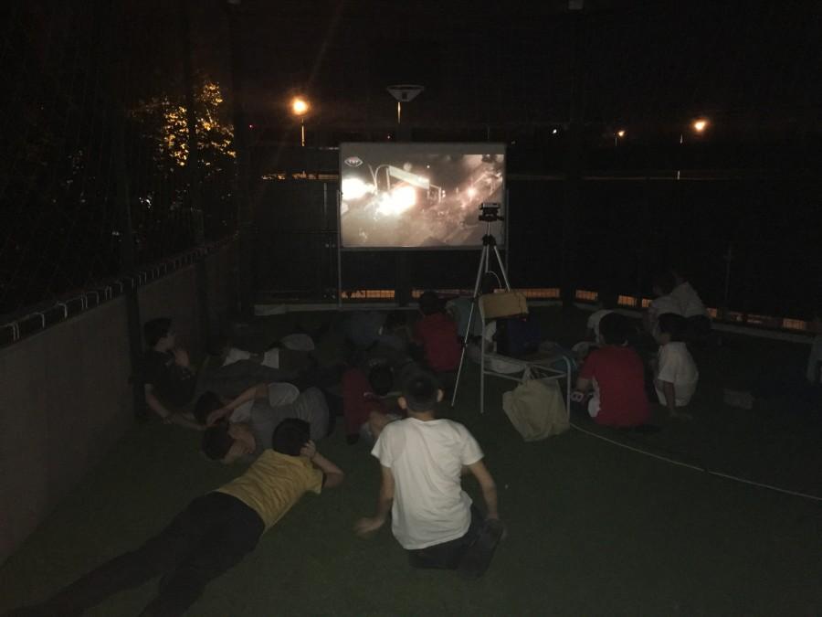Açık hava sinemamız açıldı