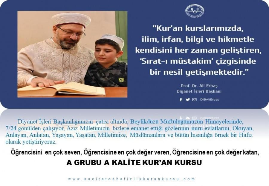 A GRUBU A KALİTE KUR'AN KURSU